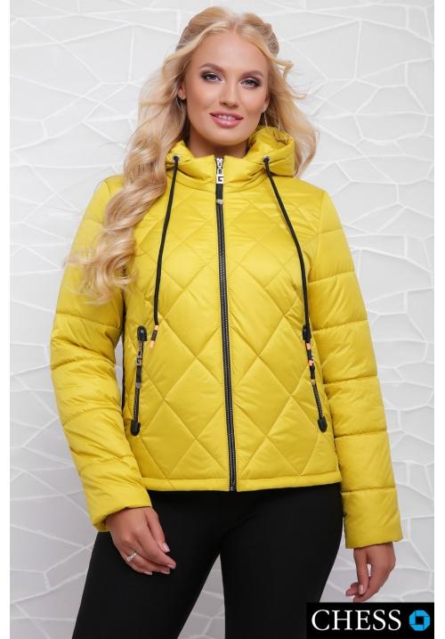 Молодежная куртка М-63 Моника (лимонная 42-48 р)