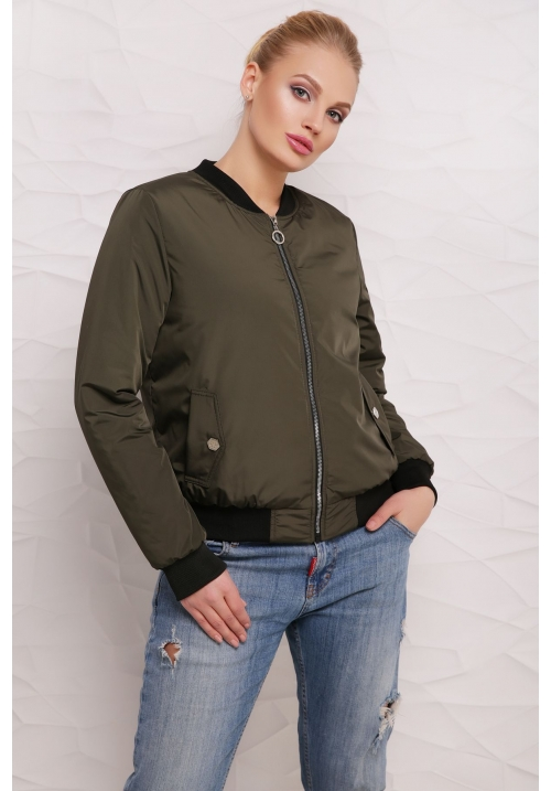 Куртка-ветровка Бомбер  М-100в хаки  (42-50 р)