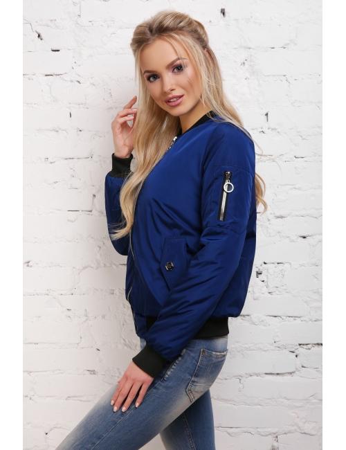Куртка-ветровка  бомбер  М-100в светло синяя  (42-50 р)