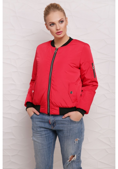 Куртка Бомбер  М-100 красная  (42-50 р)