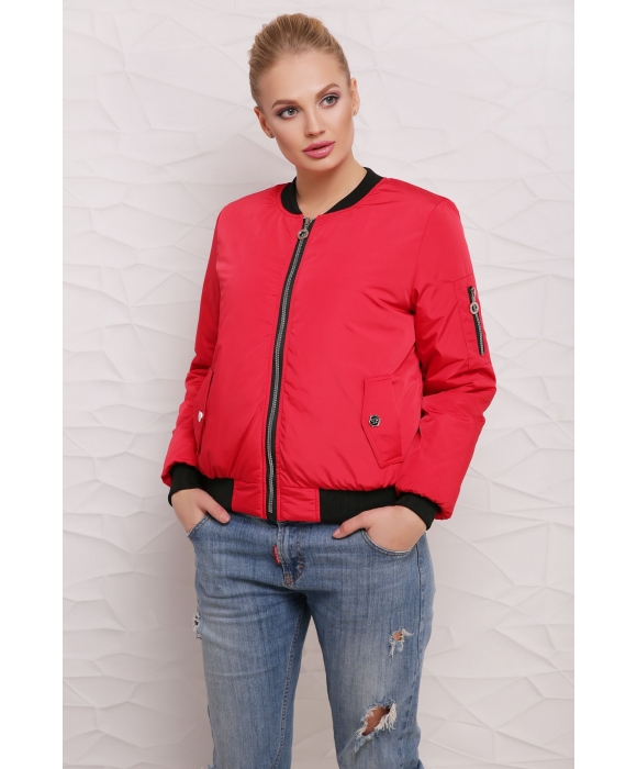 Короткая куртка  М-100 Дара красная  (42,48 р)