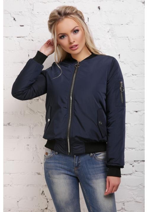 Куртка-ветровка  Бомбер  М-100в темно синяя  (42-50 р)