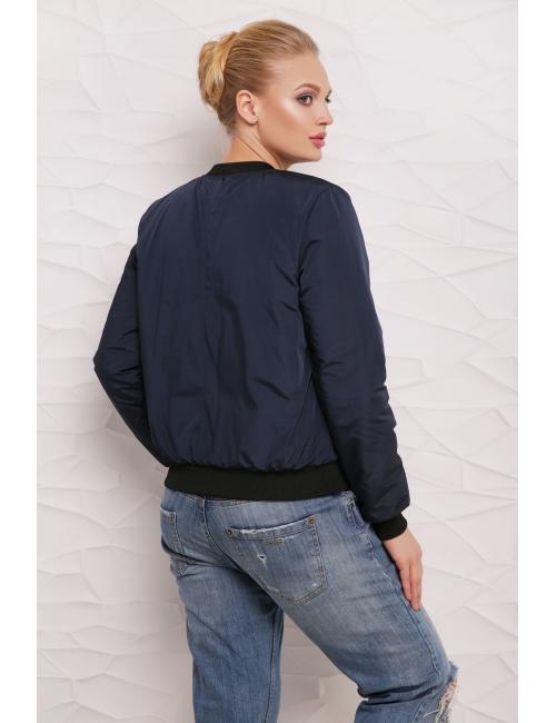 Куртка Бомбер  М-100 синяя  (42-50 р)