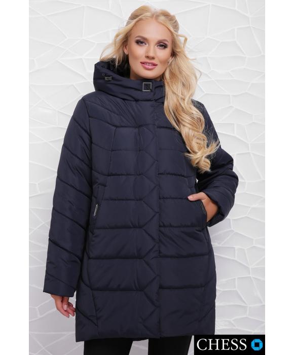 Куртка женская М-64 Елизавета (темно синяя 50-58 р)