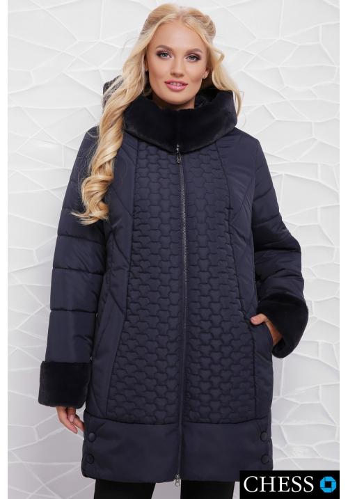 Куртка женская М-62 Нино (темно синяя 50-58 р)
