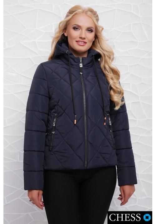 Молодежная куртка М-63 Моника (темно синяя 42-48 р)