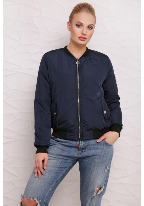 Короткая куртка  М-100 Дара  темно синяя  (42 р)