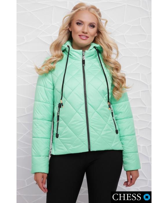 Молодежная куртка М-63 Моника (салатная 42-48 р)