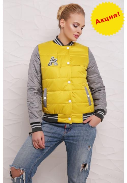 Куртка Бомбер  М-097 горчичная  (42-50 р)