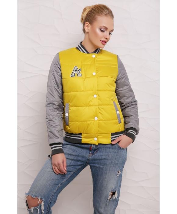 Весенняя куртка  М-097 Веста лимонная  (42-50 р)