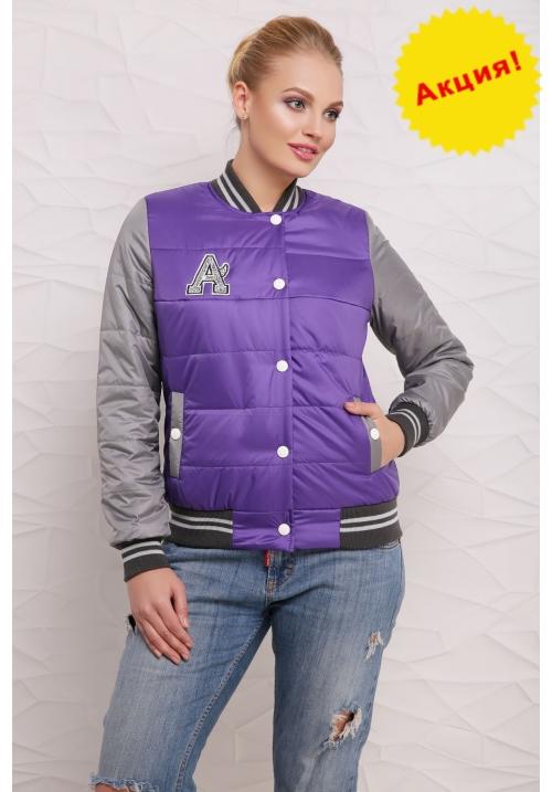 Куртка Бомбер  М-097 фиолетовая  (42-50 р)