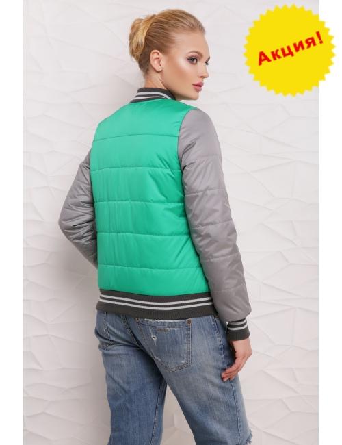 Куртка Бомбер  М-097 зеленая  (42-50 р)