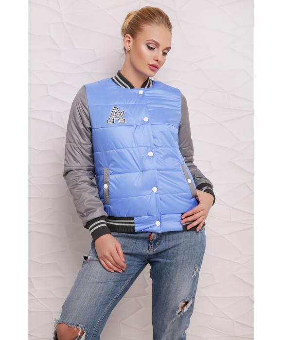 Весенняя куртка  М-097 Веста темно голубая  (42-46 р)