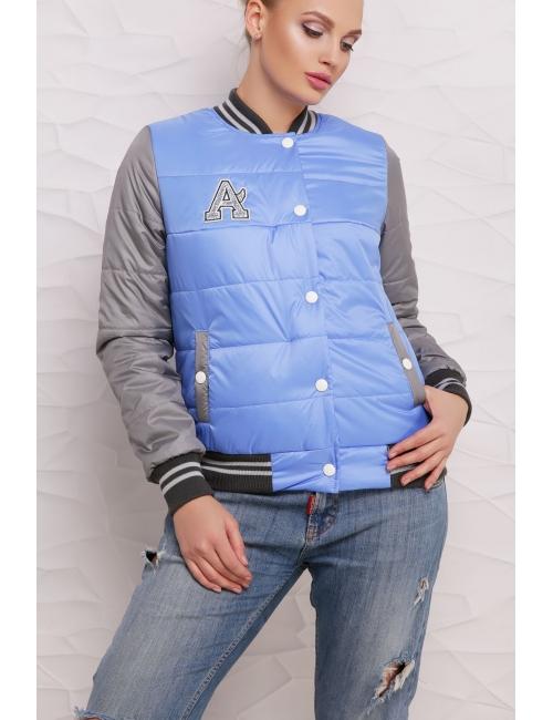 Куртка Бомбер  М-097 темно голубая  (42-50 р)