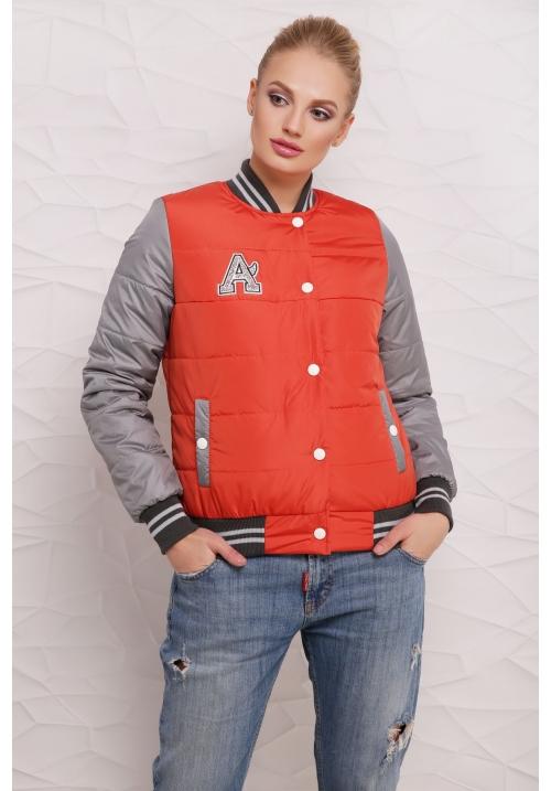 Весенняя куртка  М-097 Веста оранжевая  (42-48 р)