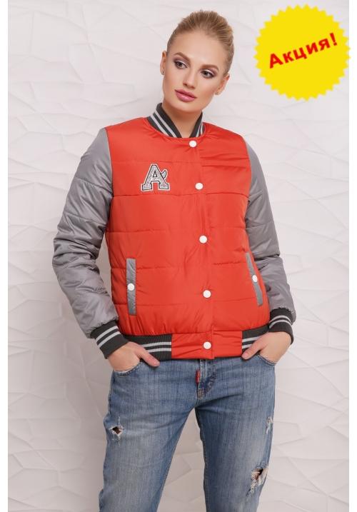Куртка Бомбер  М-097 оранжевая  (42-50 р)