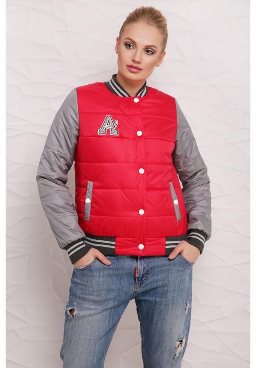 Куртка Бомбер  М-097 красная  (42-50 р)