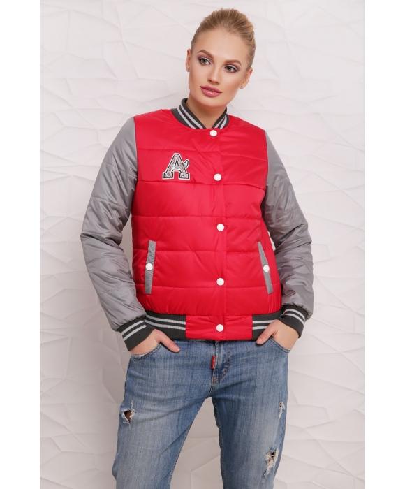 Весенняя куртка  М-097 Веста красная  (46,48,50 р)