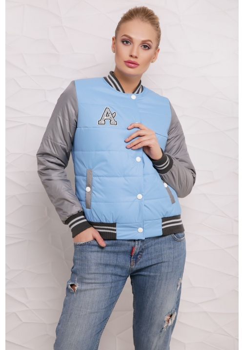 Весенняя куртка  М-097 Веста голубая  (42-50 р)