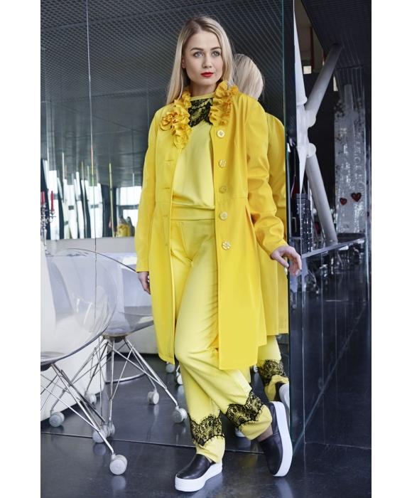 Плащ женский М-002 Ангелина лимонный (44 р)