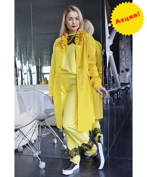 Плащ женский М-002 Ангелина лимонный (44-52 р)