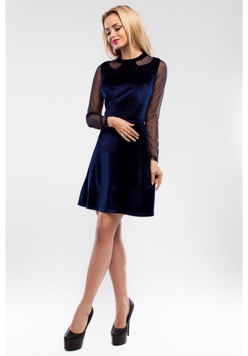 Бархатное платье Доменика M-1034