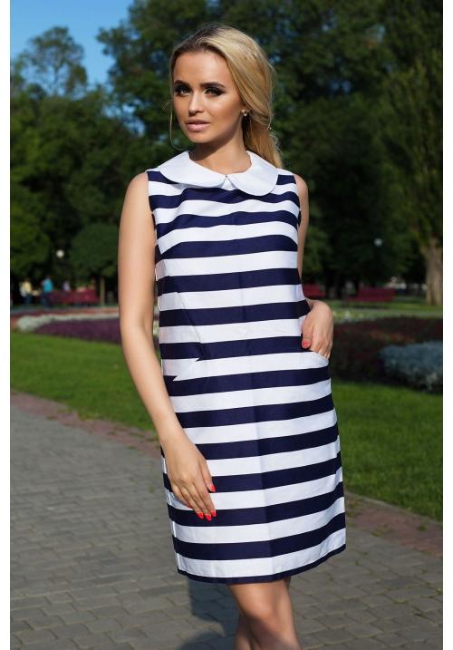 Платье в морском стиле Зебра М-1002