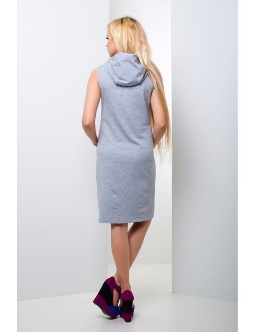 Платье  с капюшоном Кенгуру М-1017