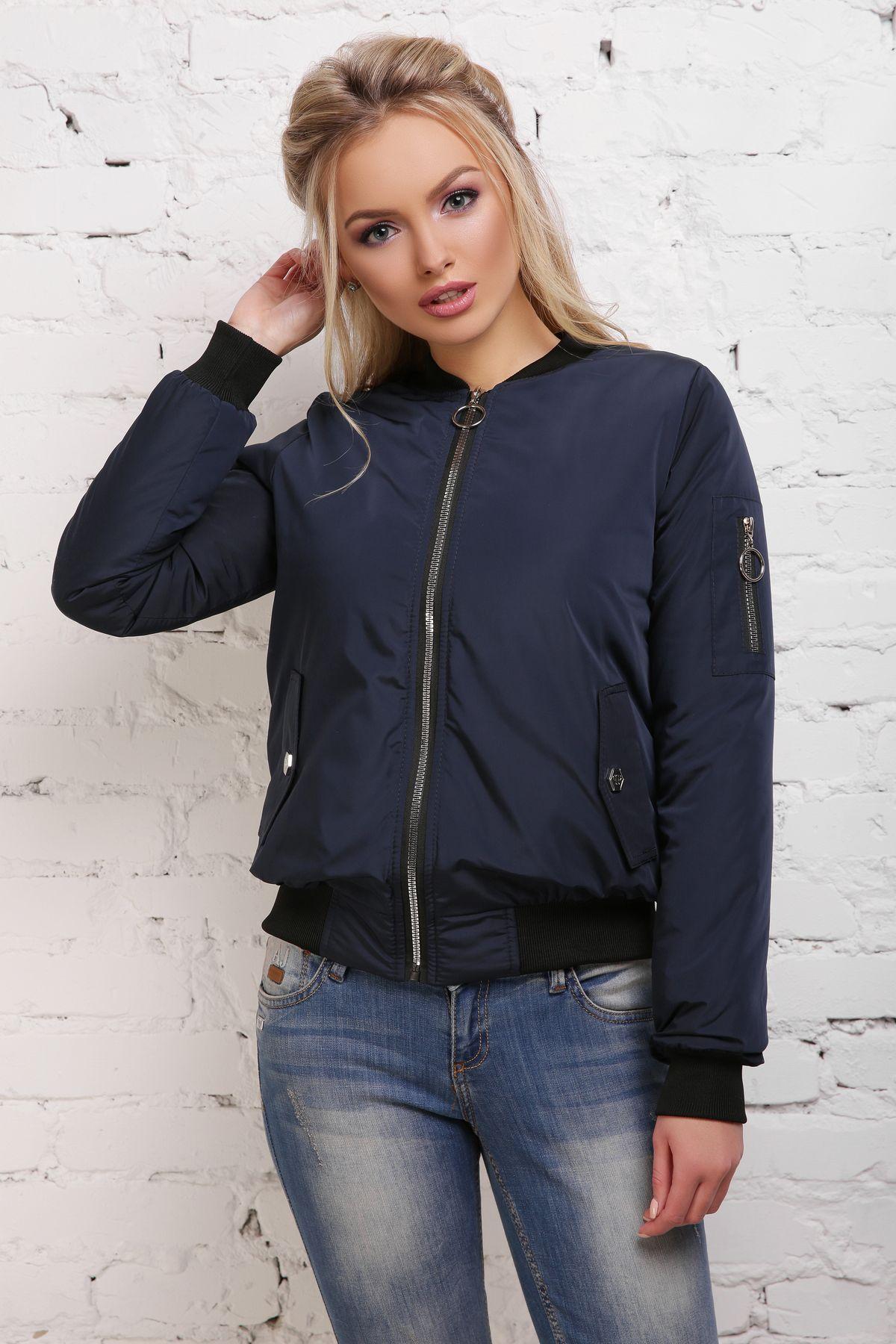 Куртка Бомбер М-100 темно синяя (42-50 р)