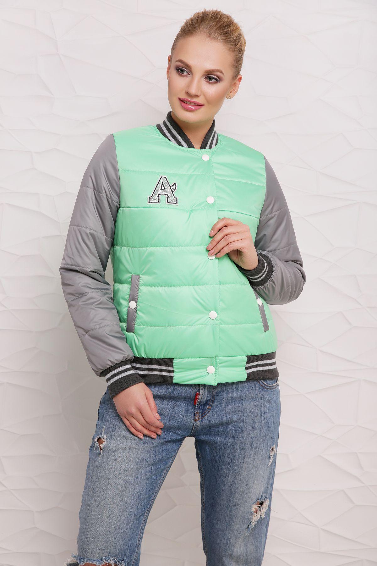 Куртка Бомбер М-097 салатная (42-50 р)
